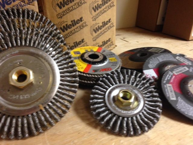 welding supplies, wire wheels, grinding wheels