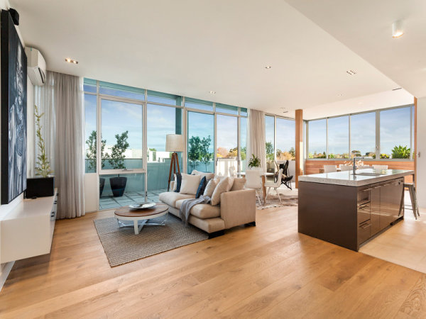 Brighton penthouse property staging