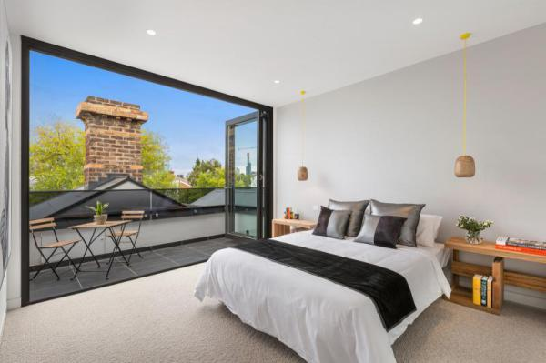 Bedroom styling in South Yarra