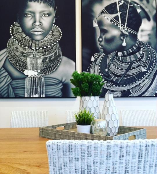 Tribal artworks on display