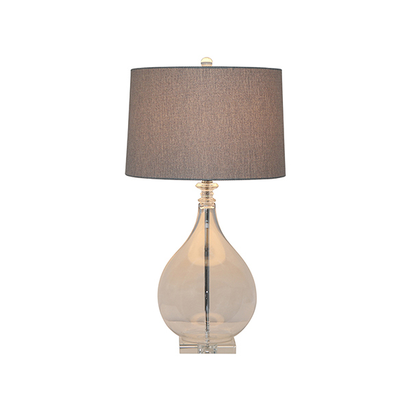 Glass dove table lamp