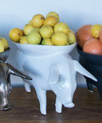 Pig Bowl in White