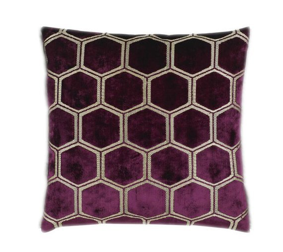 Magenta Geo cushion