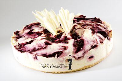 Gluten Free Boysenberry Raspberry Swirl Cheesecake