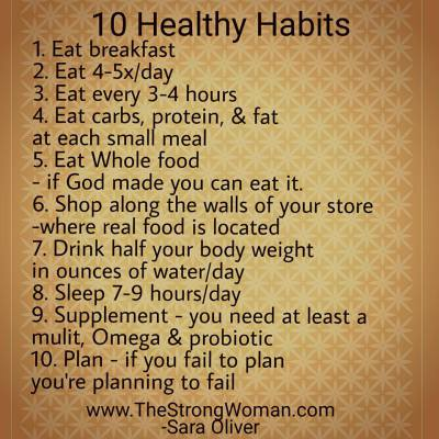 10 Healthy Habits of Healthy People!