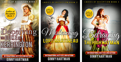 New Covers For The Ladies of Deception Trilogy