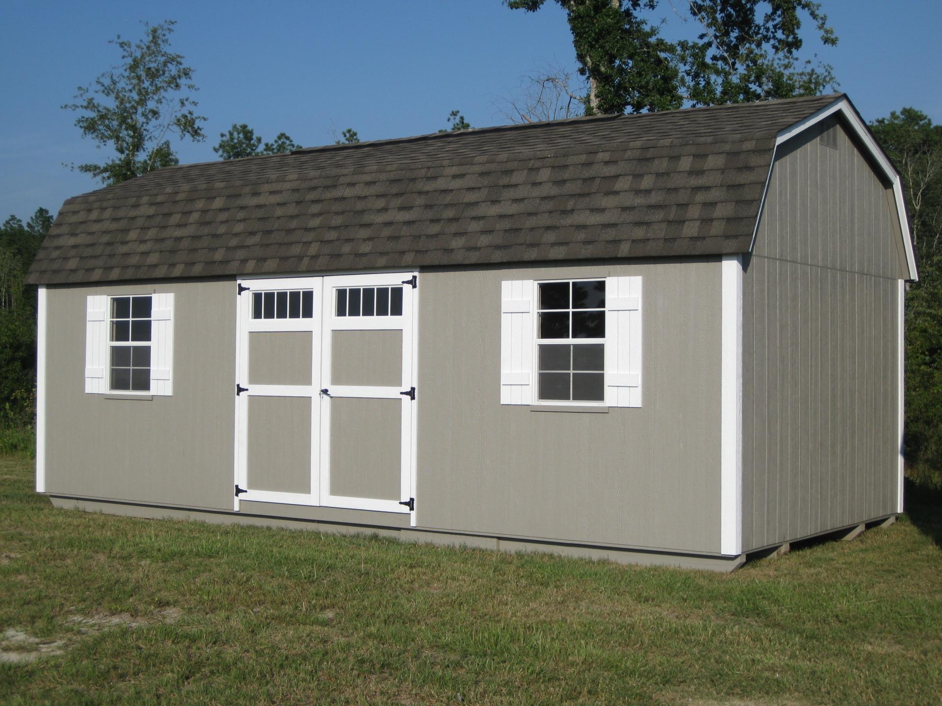 12x24 Lofted Barn w/ Transom Windows