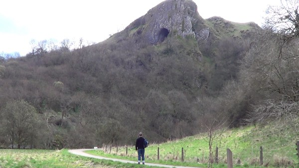 Thor's Cave in the Manifold Valley in the Peak District