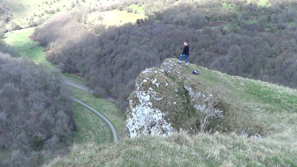On top of Thor's Cave in the Manifold Valley
