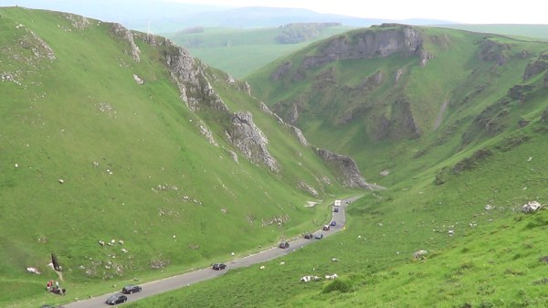 Winnats Pass near Castleton in the Peak District