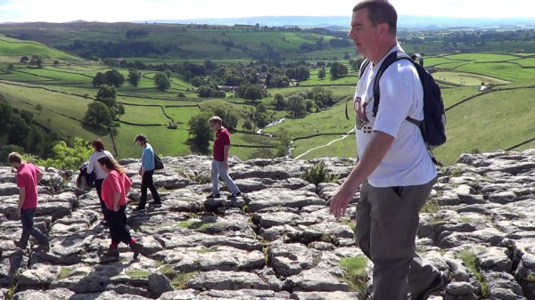 The limestone pavement on Malham Cove