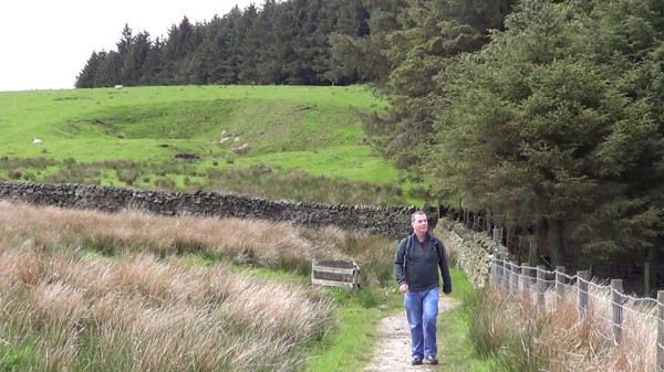 Walking to Newchurch-in-Pendle just beyond Fell Wood