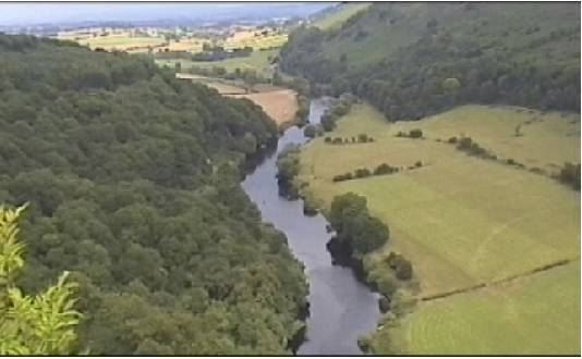 View over the River Wye from Symonds Yat Rock