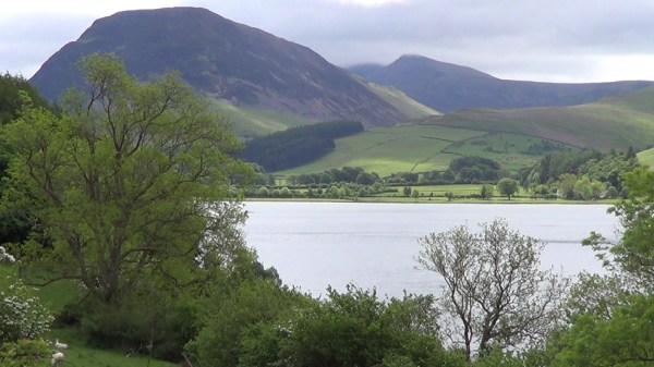 Loweswater lake with Mellbreak in the background