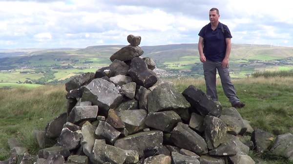 A cairn on Holcombe Moor