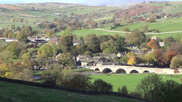 View of Burnsall in Wharfedale