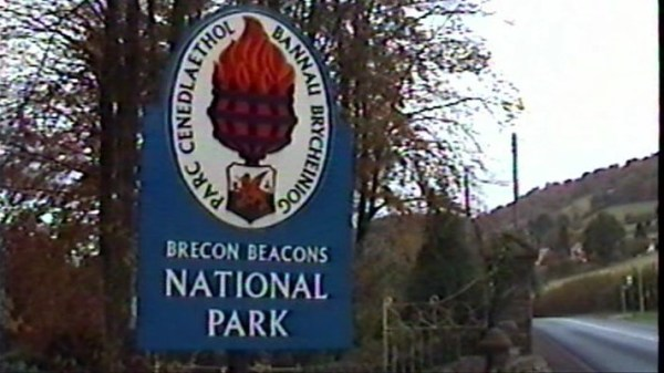 Brecon Beacons National Park boundary sign near Abergavenny