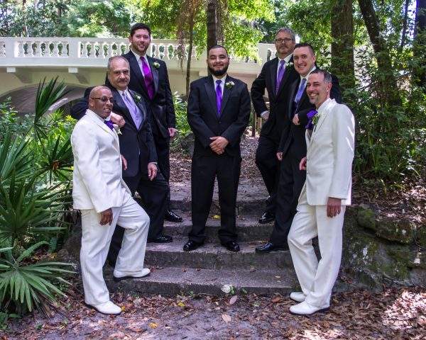 over the rover the rainbow weddings, wedding ceremony, groom and groom, orlando wedding planner,