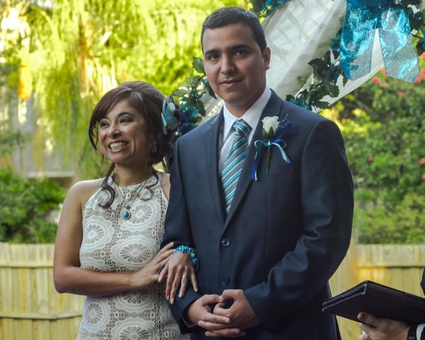 over the rainbow weddings, wedding ceremony, bride and groom, orlando wedding planner,