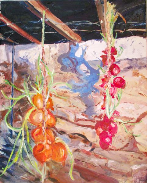 hanging onios