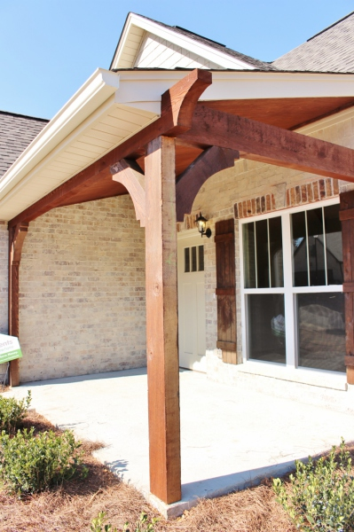 Stained Cedar Post
