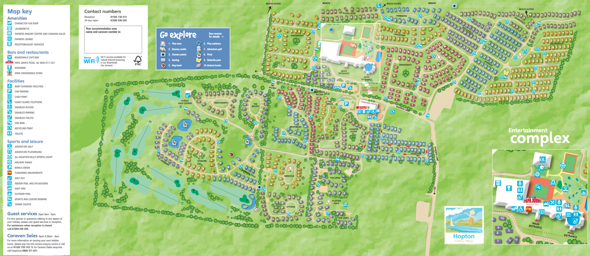 Haven Hopton Holiday Village - Map