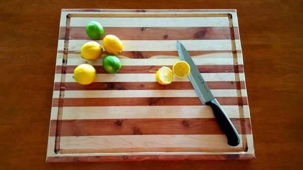Maple and Red Cedar Cutting Board