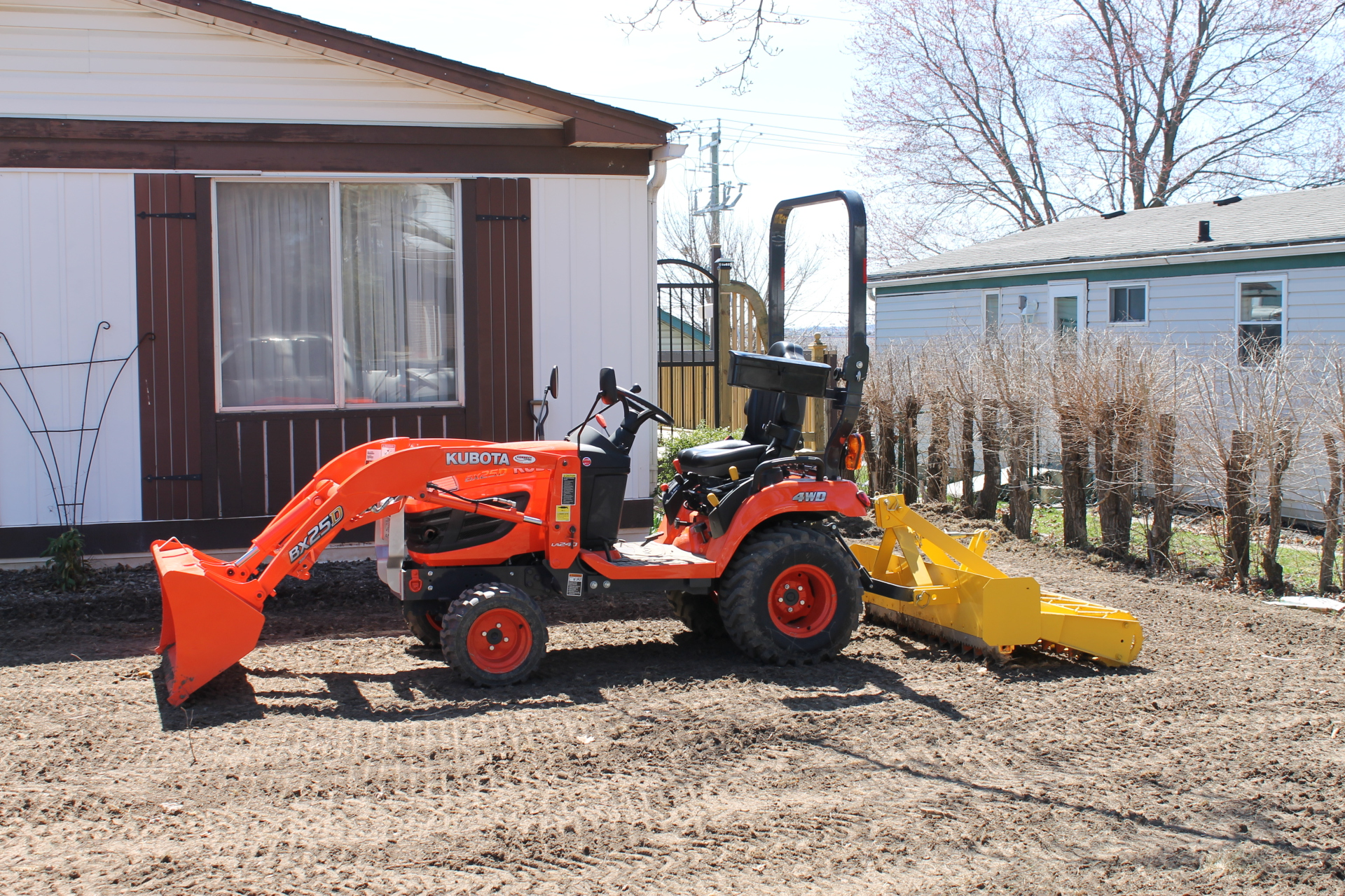 Regrading and levelling
