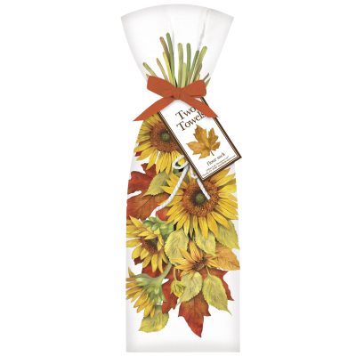 FALL SUNFLOWER TOWELS - $19.95 (set of 2)