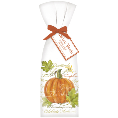 BOTANICAL PUMPKIN TOWELS - $19.95 (set of 2)