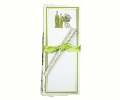 HERBS & OIL TOWEL & NOTEPAD SET - $14.95