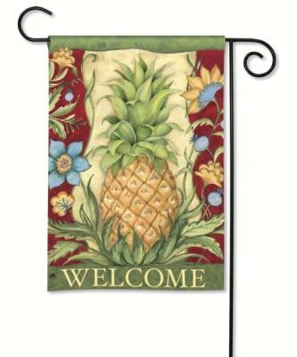 PINEAPPLE WELCOME GARDEN FLAG - $11.95
