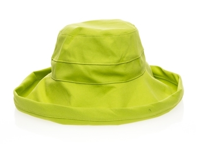 GREEN PACKABLE COTTON HAT - $18.95