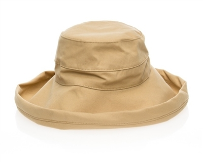 TAN PACKABLE COTTON HAT - $18.95