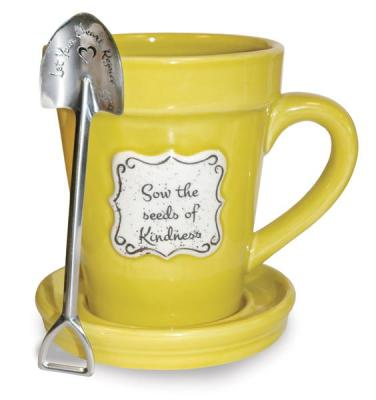 """SOW SEEDS OF KINDNESS"" FLOWER POT MUG - $16.95"