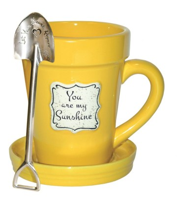 """YOU ARE MY SUNSHINE"" FLOWER POT MUG - $16.95"