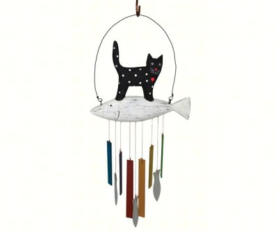 CAT & FISH CHIMES - $24.95