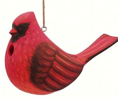 LARGE CARDINAL BIRD HOUSE - $34.95