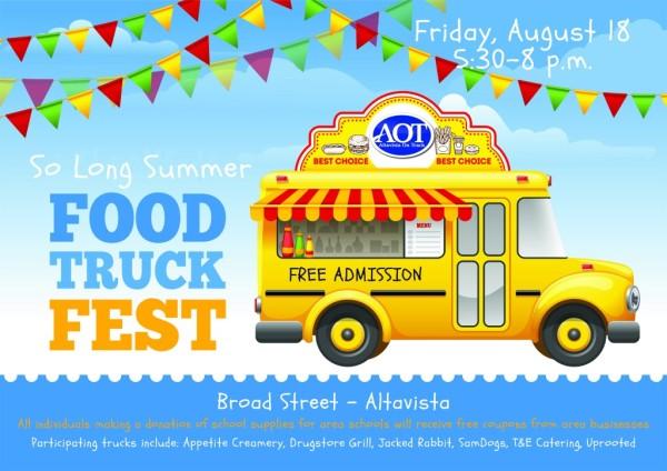 altavista food trucks, altavista food truck festival, so long summer, altavista food truck event, aot food trucks, downtown food trucks, altavista on track food trucks