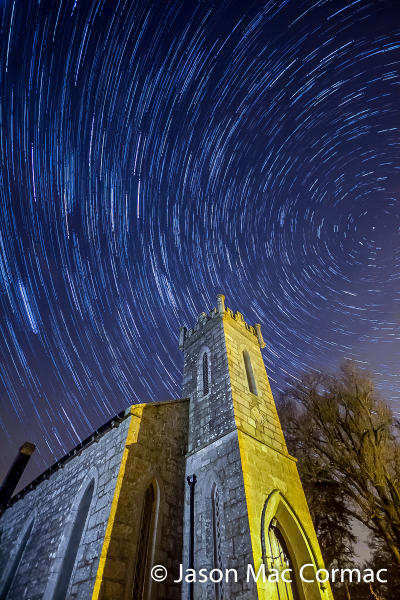 Long exposure of the night skies and star trails