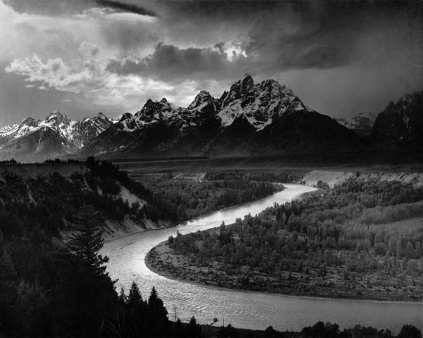 Ansel Adams photo of snake river