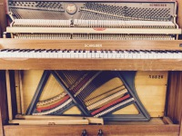 Schrieber acoustic upright piano at Isle Of Wight Recording - Studio 5A
