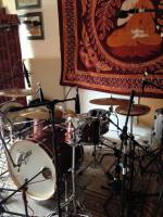 Recording drums at Isle Of Wight Recording - Studio 5A