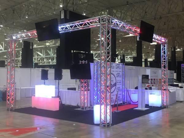 qav, q audio visual, trade show booth
