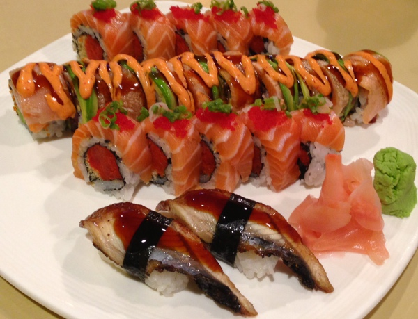 Sakura Roll and Fireball Roll