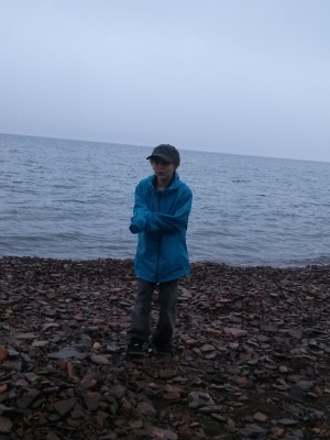 A cold rainy day... Lake Superior, 2014