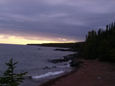 Watching a storm roll in... Lake Superior, 2014