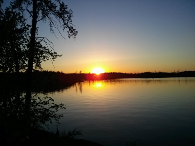 Sunset over Seagull Lake, Mn.