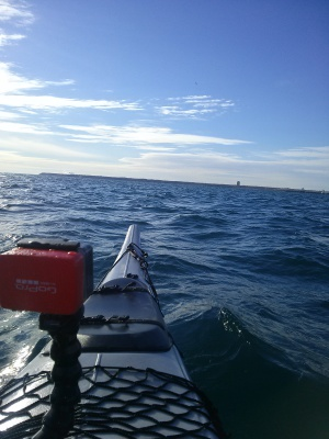 Paddling Lake Michigan, Nov. 2015