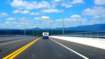 Kubvan Road Trip No. 01 bringing the Kubvan home over the Kingston Rhinecliff Bridge